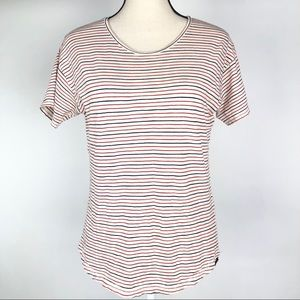 Madewell Red and Blue Stripe Tee Shirt